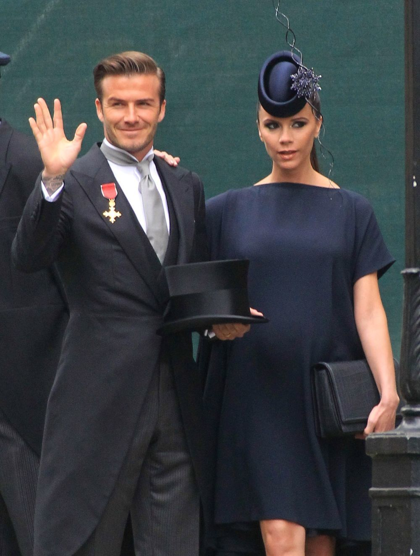 El matrimonio Beckham en la boda de los Duques de Cambridge.