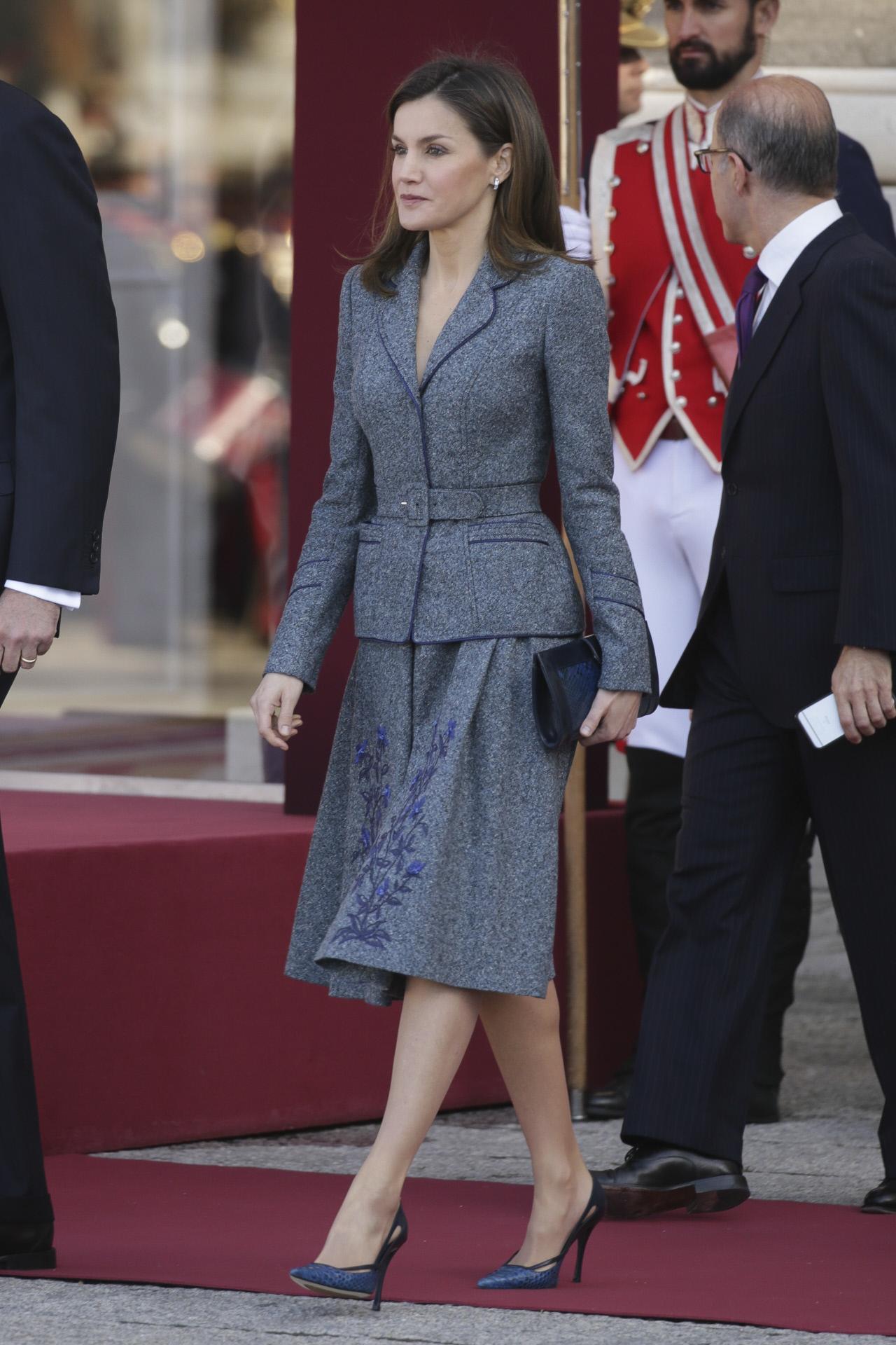 Doña Letizia, durante la Visita de Estado del Presidente de la...
