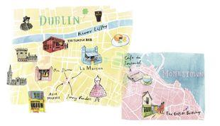 Sitúa en el mapa los lugares favoritos de Marian.