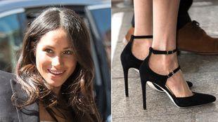 MeghanMarkle escogió unos zapatos de Tamra Mellon en su último acto...