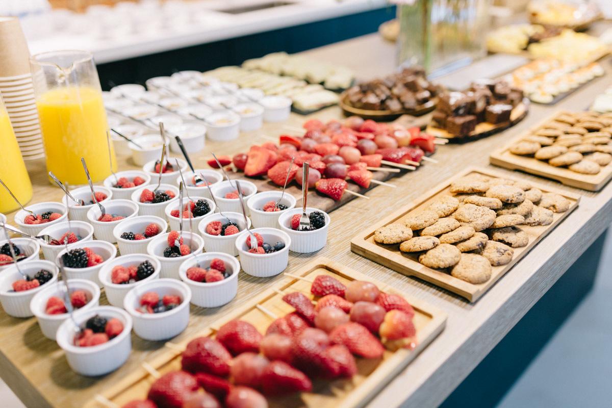 Las usuarias de TELVA.com disfrutaron de un snack para reponer fuerzas...