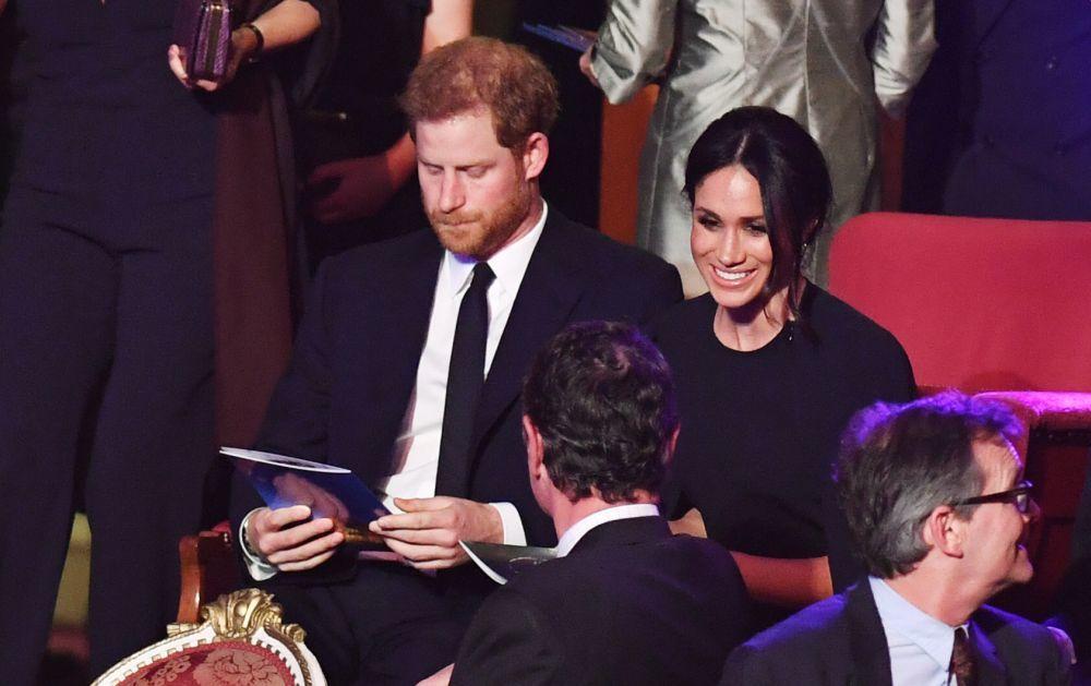 Meghan y Harry en la celebración de cumpleaños de Isabel II.