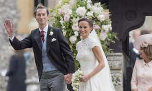 Pippa Middleton y James Matthews en su boda.