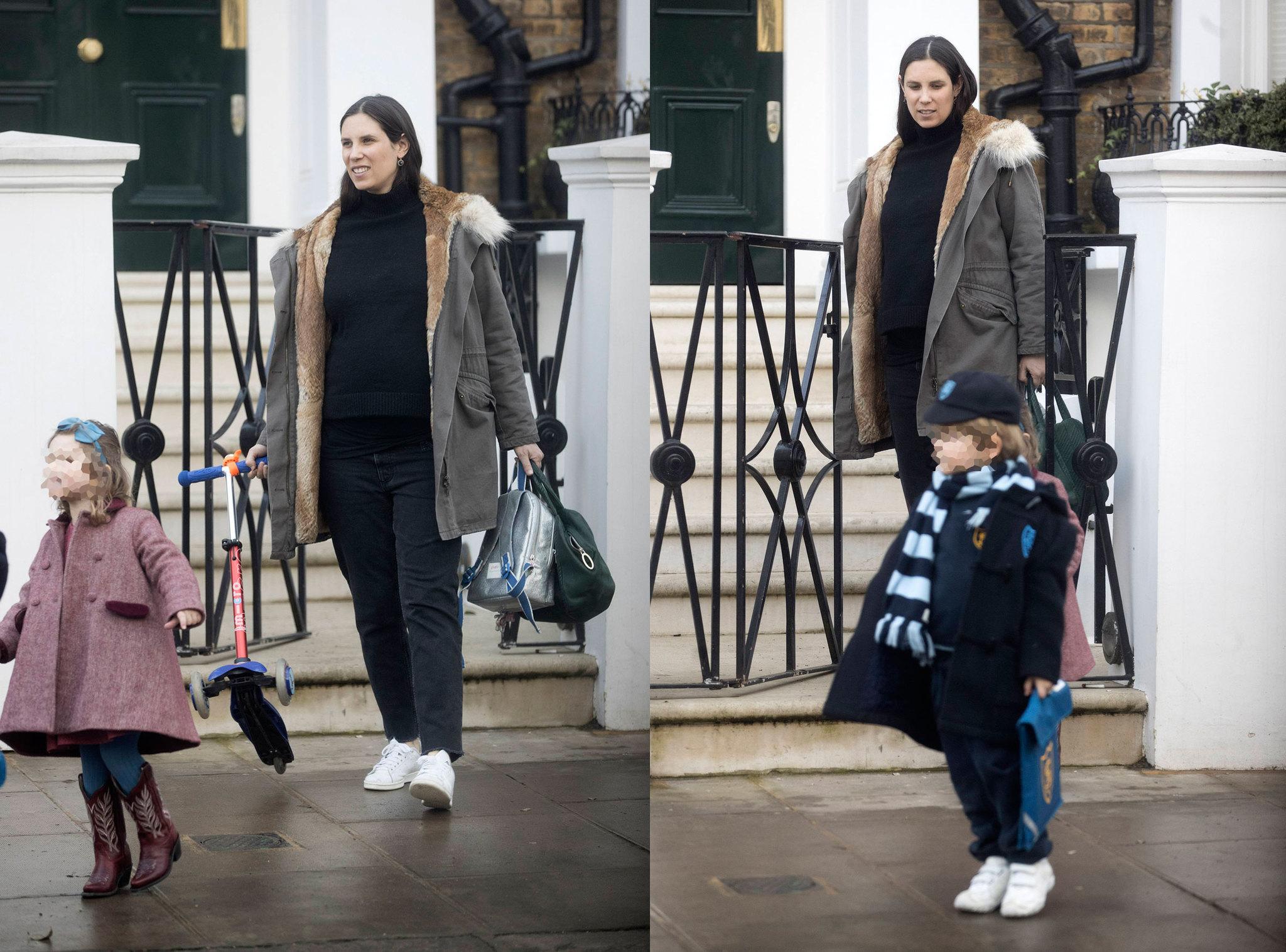 Tatiana Santo Domingo junto a sus hijos en Londres, donde reside la...