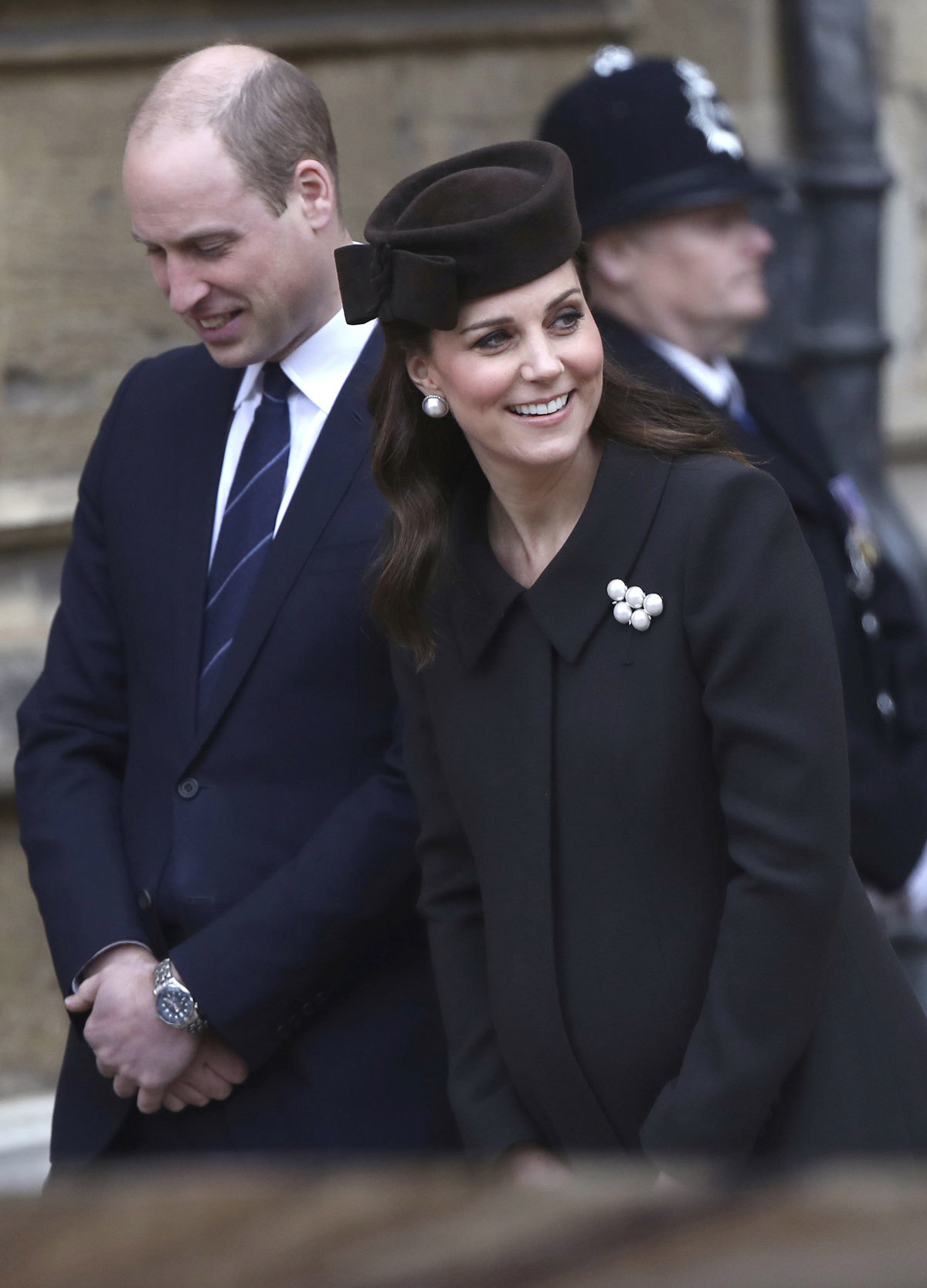 Kate Middleton en su última aparición pública el pasado 1 de abril...