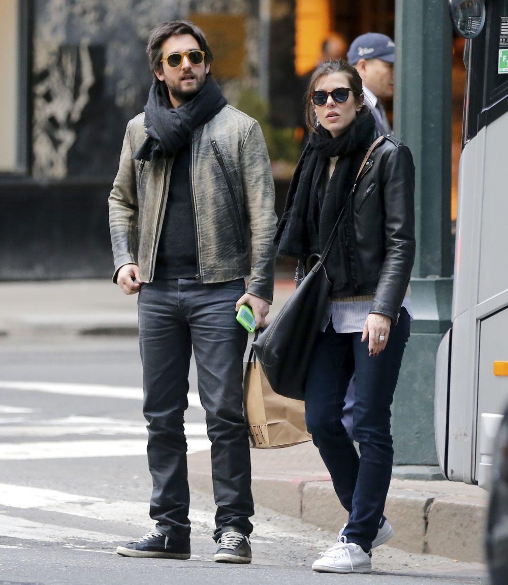 Dimitri Rassam y Carlota Casiraghi en las calles de Nueva York.