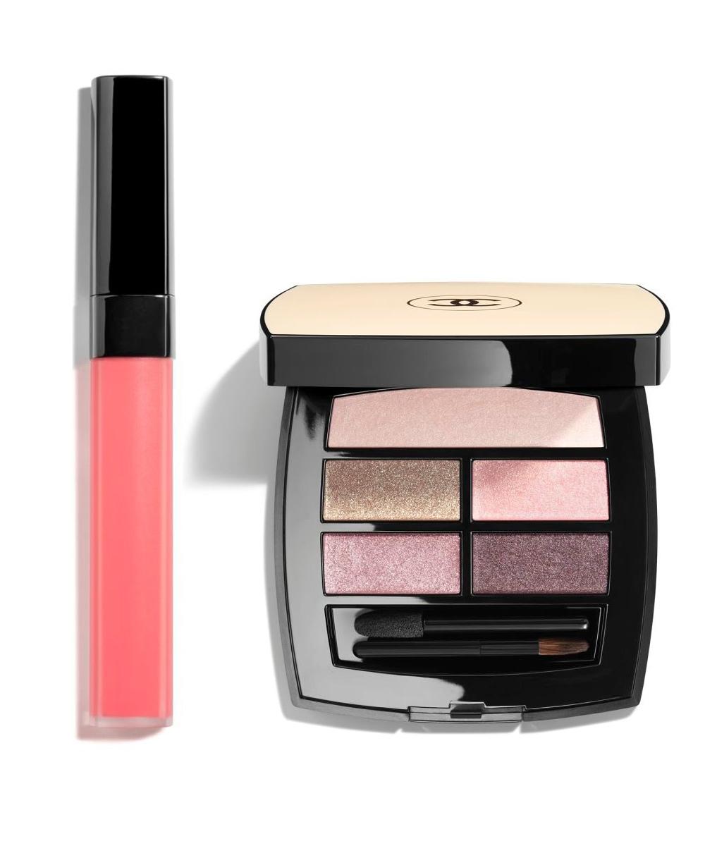 Paleta de sombras Les Beiges Belle Mine Natural Light y Rouge Coco Lip...