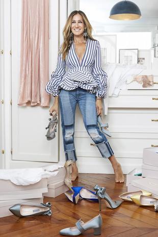La actriz, Sarah Jessica Parker, en la campaña de su marca SJP...