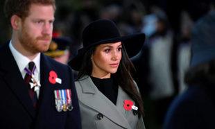 Meghan Markle y el príncipe Harry en el Día de Anzac.