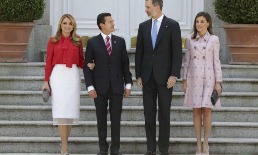 Los Reyes junto al presidente de México y la primera dama.