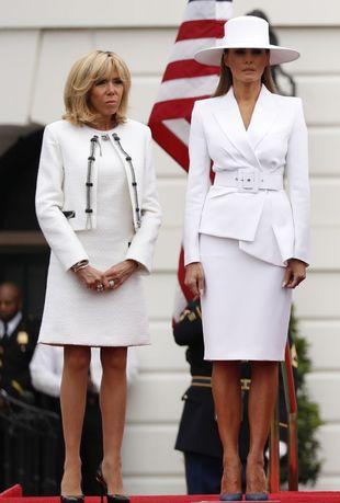Brigitte Macron y Melania Trump.