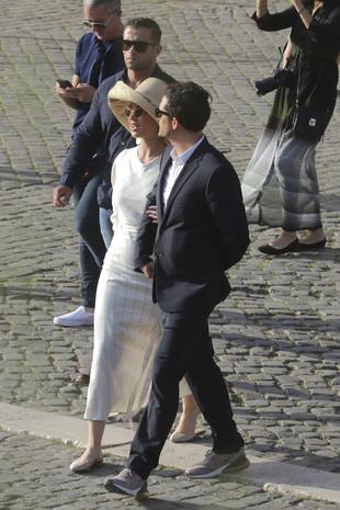 Katy Perry y Orlando Bloom paseando por las calles de Roma