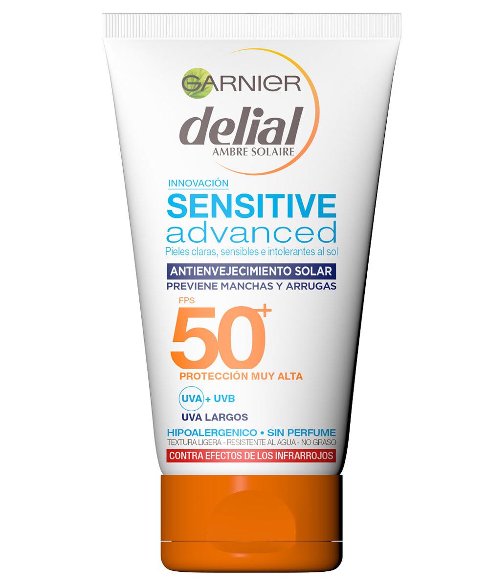Delial Sensitive Advanced Crema Antienvejecimiento SPF 50+, de Garnier...