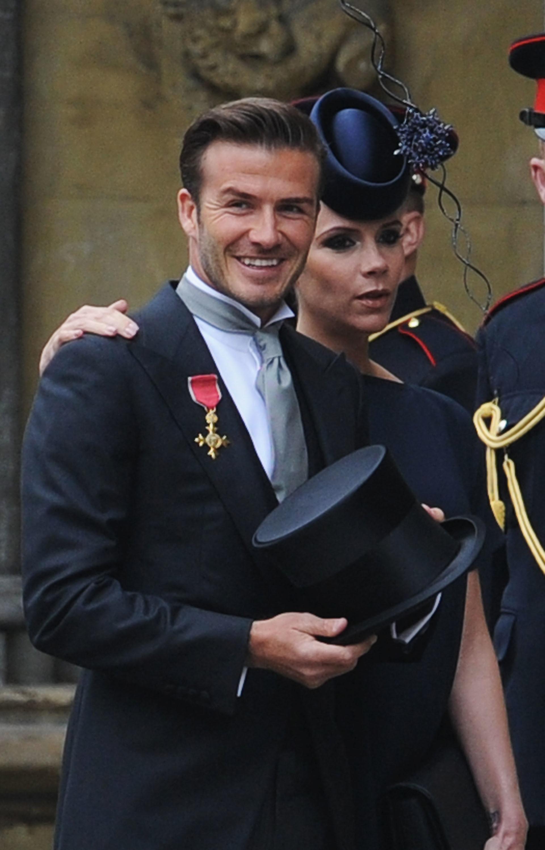 David y Victoria Beckham en la boda de los duques de Cambridge.