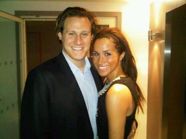 Meghan Markle junto a su exmarido, Trevor Engelson.