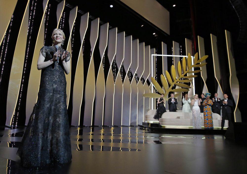Cate Blanchett, presidenta del jurado de Cannes 2018, en la gala...