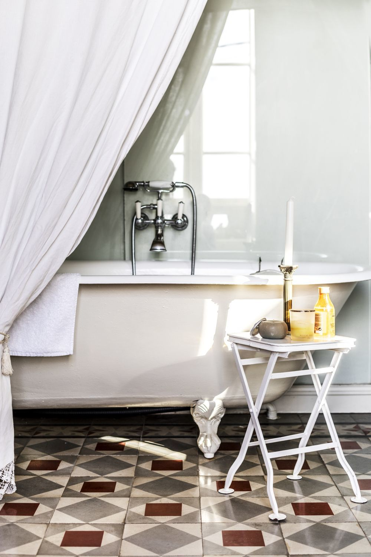 La bañera procede de un mercadillo de Montpellier.