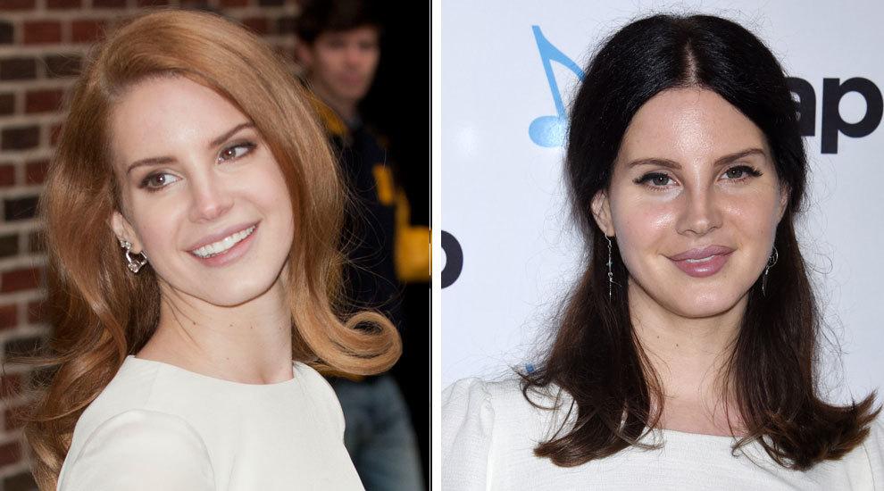 Lana del Rey ya operada de la nariz en 2012 a la izquierda y la...