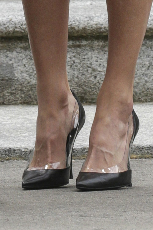 Los llamativos zapatos de Letizia.