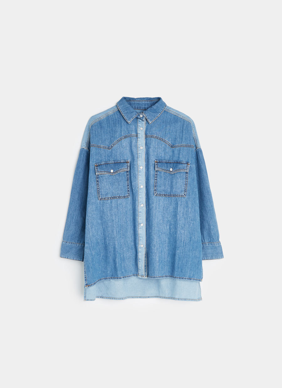 Camisa tejana de Uterqüe por 69 euros.