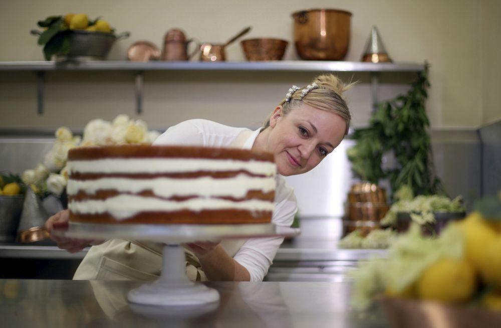 La tarta nupcial de Meghan Markle y el príncipe Harry .