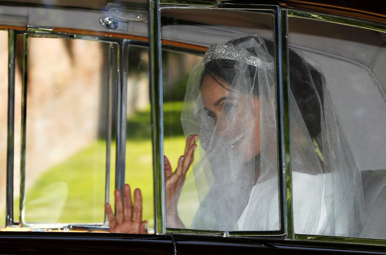 La novia llega a la capilla de St. George.