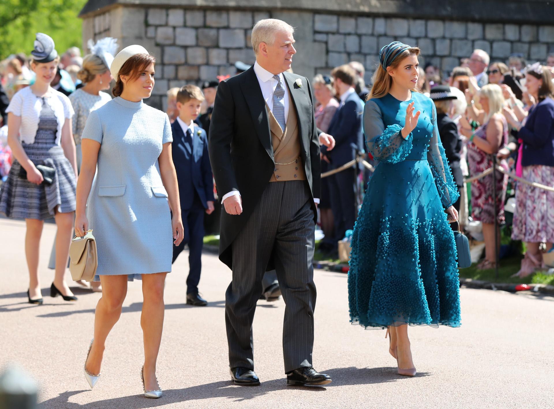 La princesa Eugenie, el duque de York y la princesa Beatrice, de la...