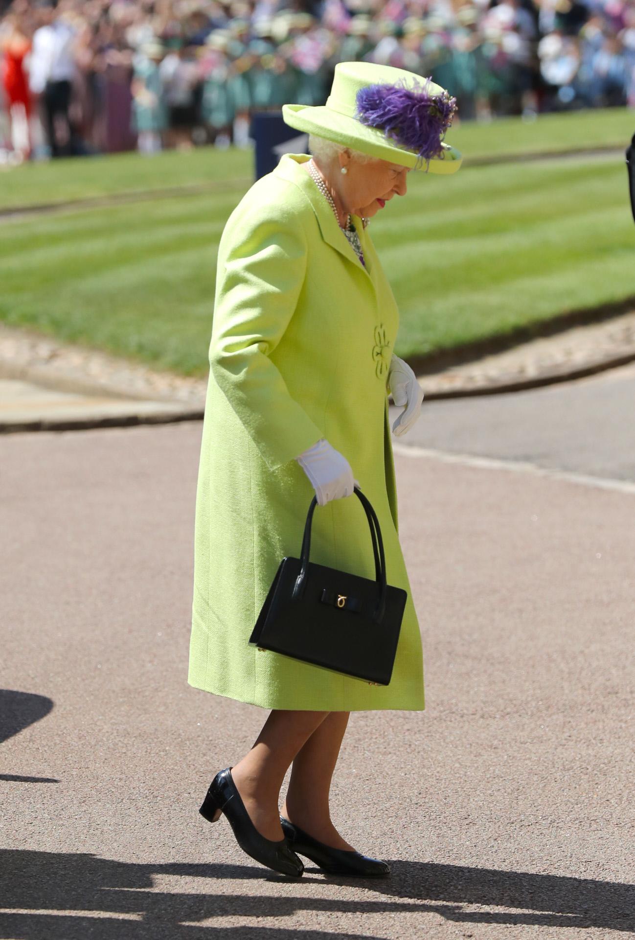 La reina Isabel II cedió todo su protagonismo a los novios.