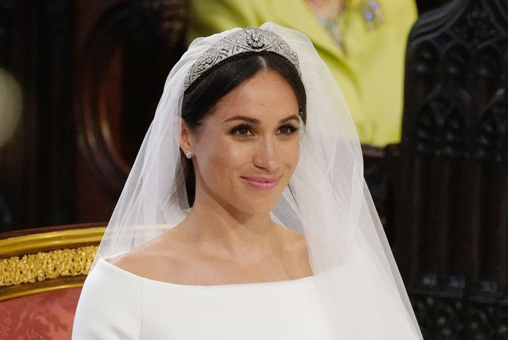 Meghan Markle vestida de novia.