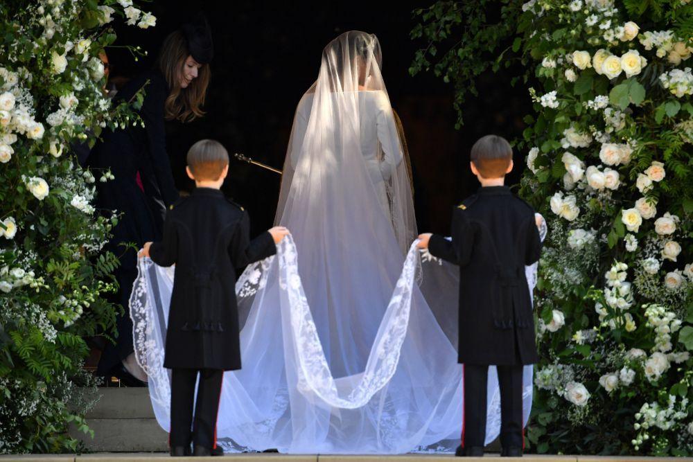 La novia llegando a la Iglesia.