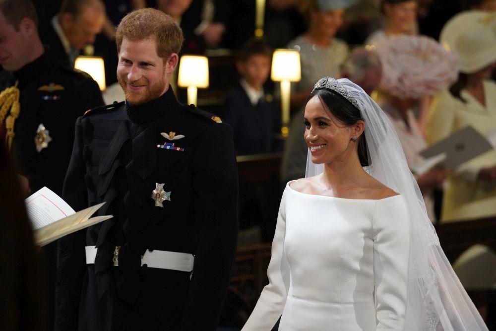 El príncipe Harry y Meghan Markle en su boda.
