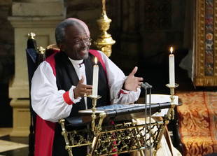 El reverendo Michael Curry en la boda de Meghan Markle y el príncipe...
