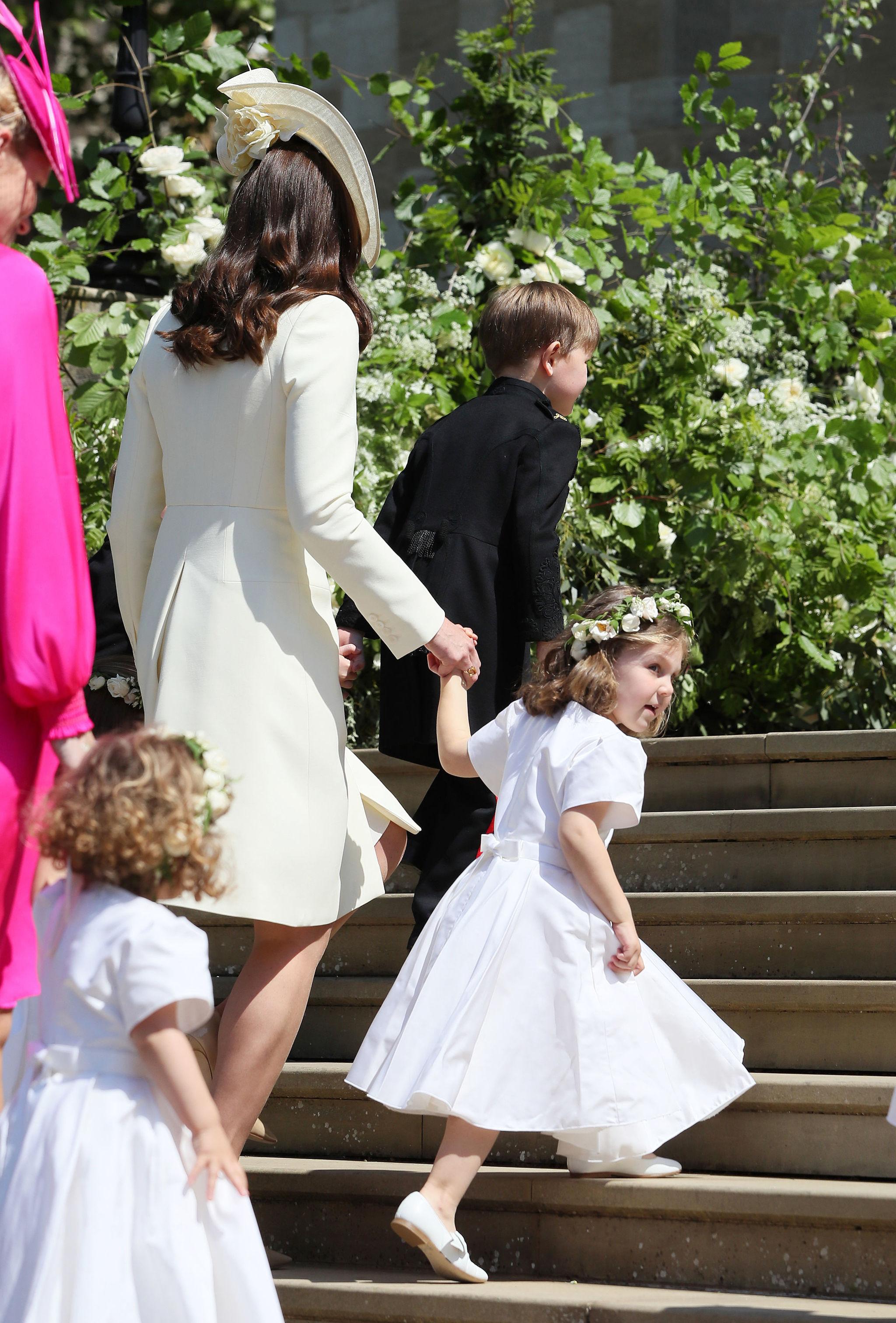 Kate Middleton con la princesa Charlotte.
