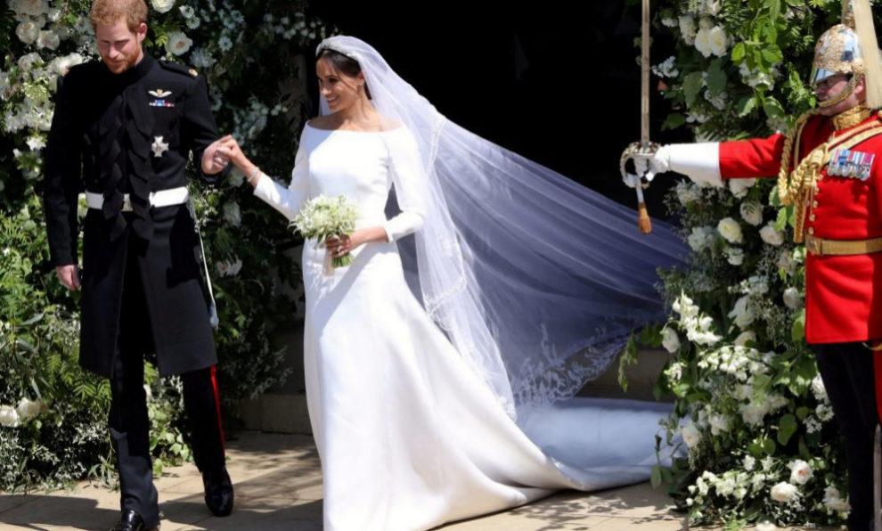lo que significa (en realidad) el vestido de novia de meghan markle