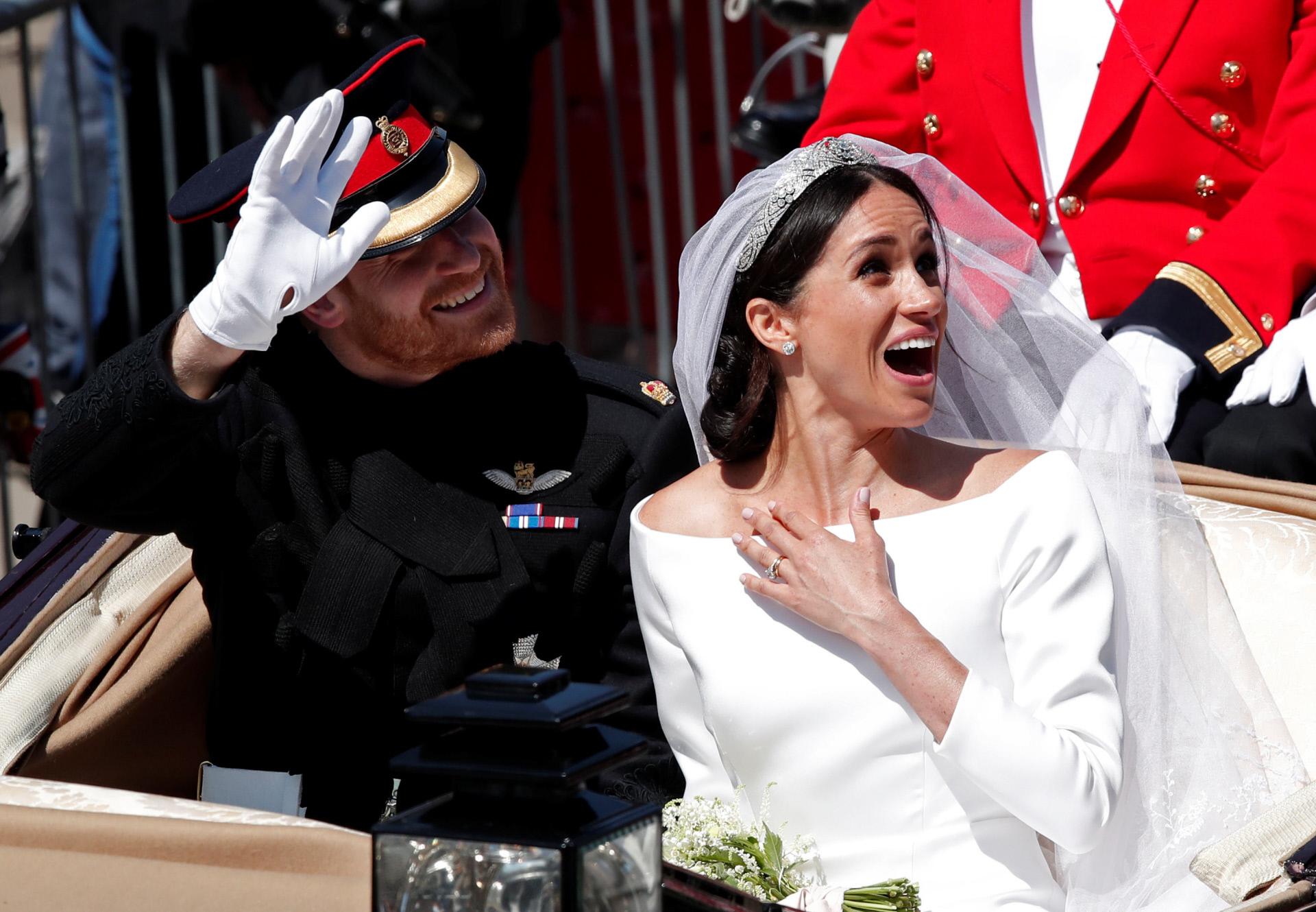 El príncipe Harry y Meghan Markle el día de su boda en Windsor.