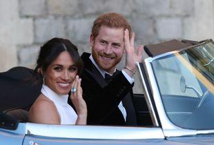 Meghan Markle y el príncipe Harry llegan a Frogmore House.