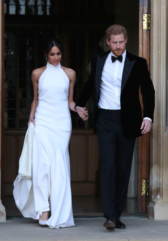 Meghan Markle, Duquesa de Sussex, con su segundo vestido de novia,...