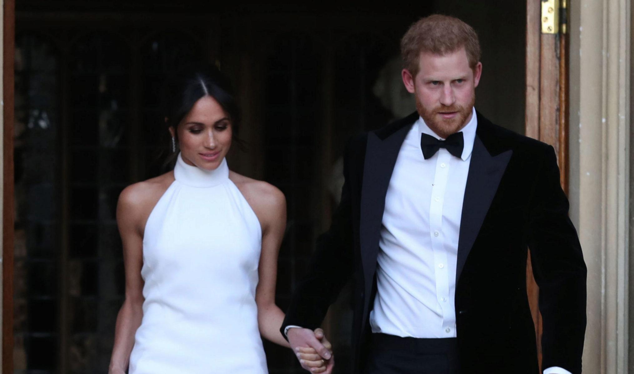Meghan Markle y el príncipe Harry acuden a la celebración de una...