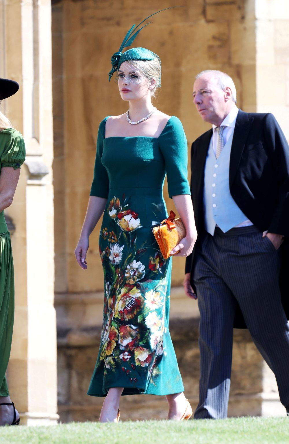 Lady Kitty Spencer en la boda de Meghan Markle y el príncipe Harry.