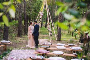 Vanesa y José se casaron en una boda de aires bohemios celebrada en...