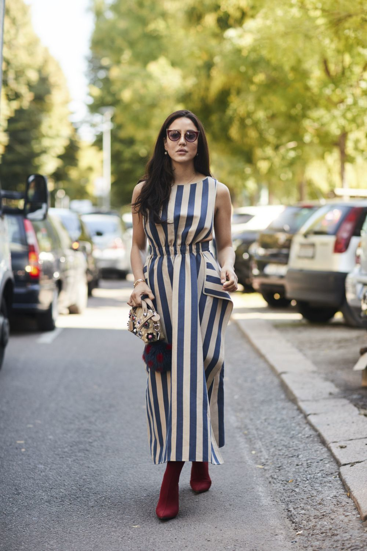 Es uno de los prints de moda, las rayas son una apuesta segura cada...
