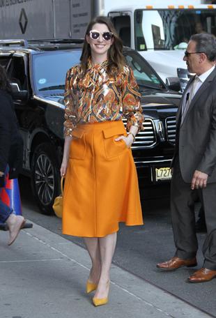 Anne Hathaway: ¿Orange is the new black?