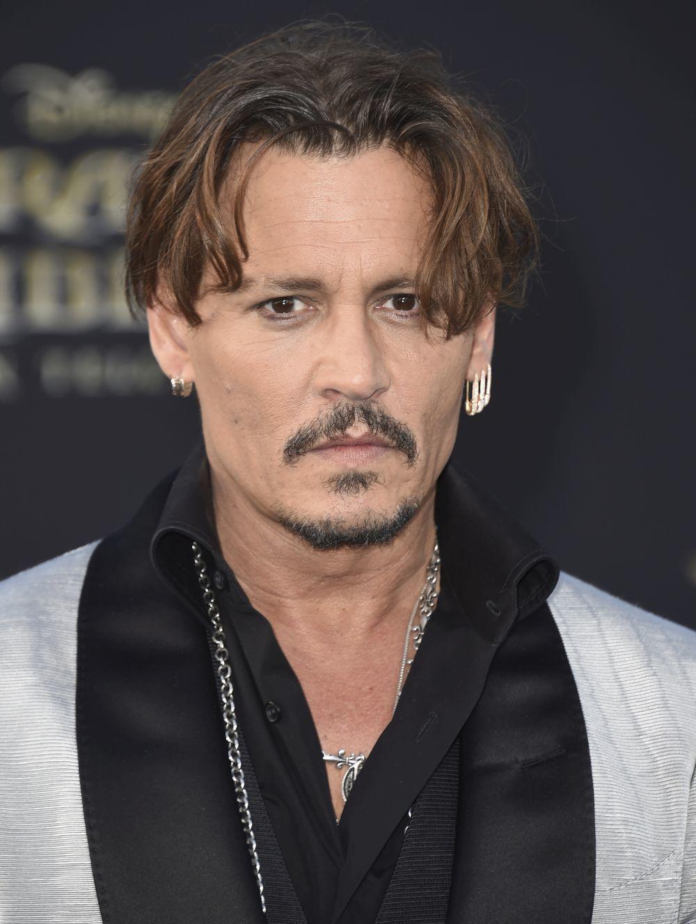 Johnny Depp el pasado año durante el estreno de Piratas del Caribe:...