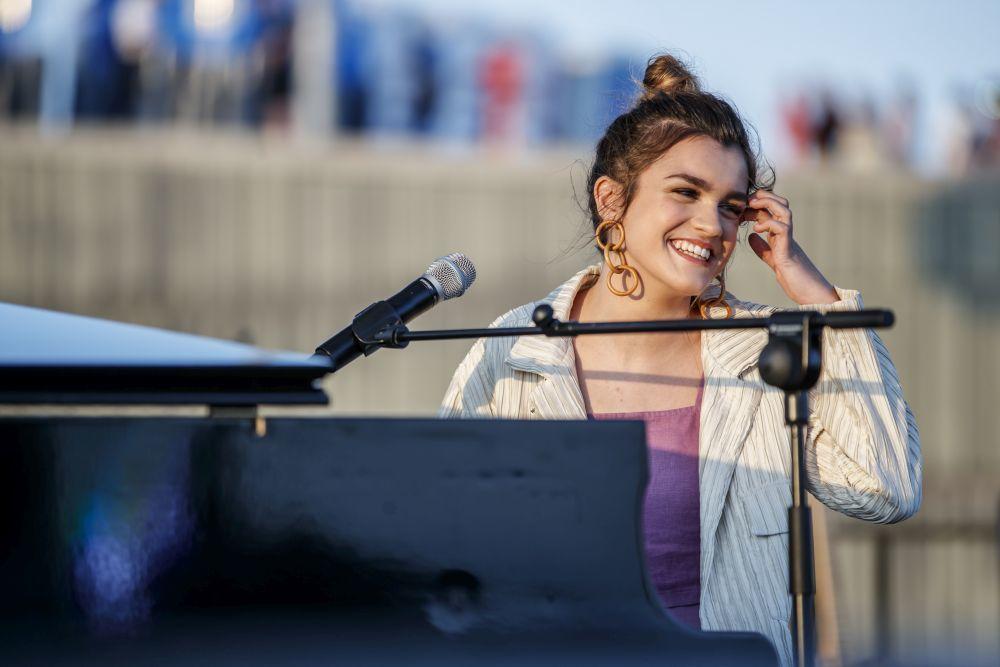 Amaia, la ganadora de Operación Triunfo, en el Heineken Hidden Stage...