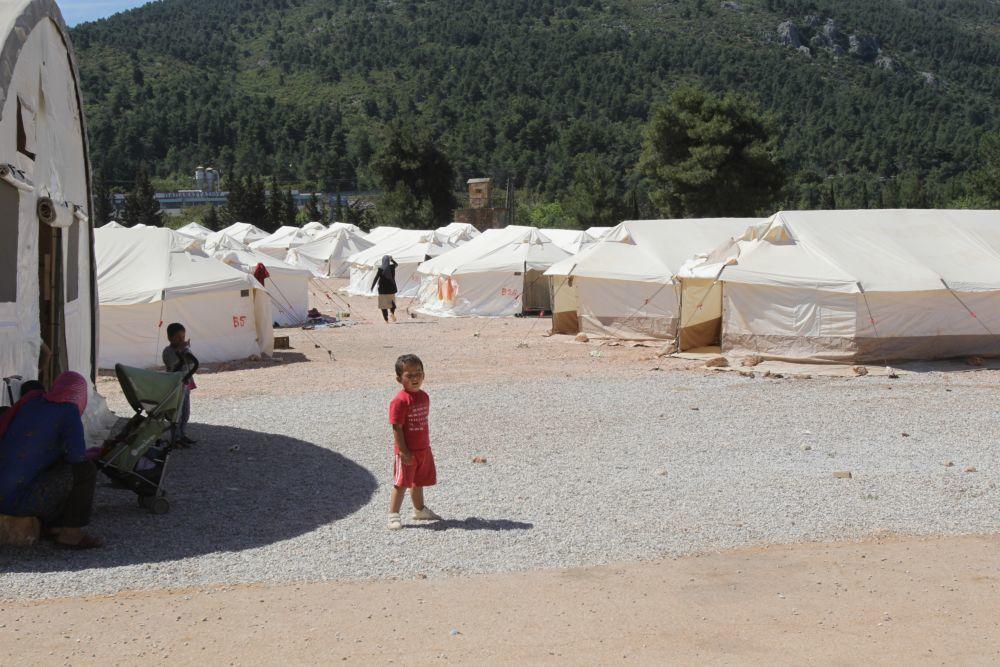 Campo de refugiados en Grecia donde está presente Mensajeros de la...
