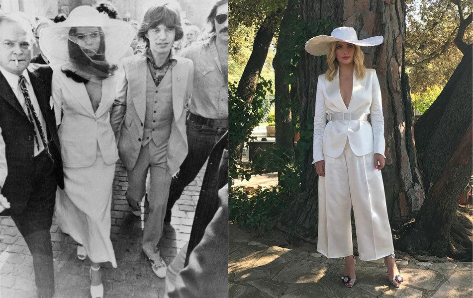 Bianca Jagger el día de su boda y la actriz Miriam Giovanelli con...