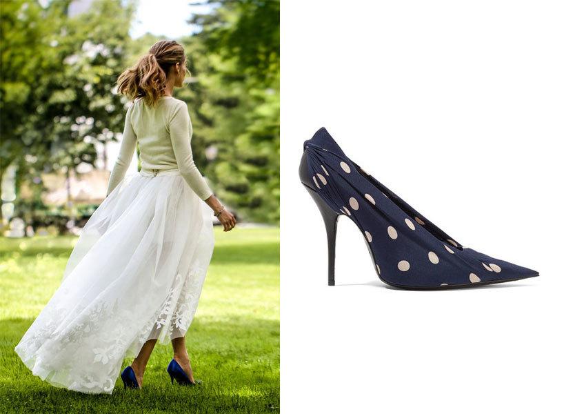 Olivia Palermo con el modelo de zapatos Haginsi, de Manolo Blahnik el...