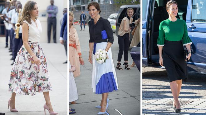 La Reina Letizia, Mary de Dinamarca y Sofía de Suecia, las tres con...