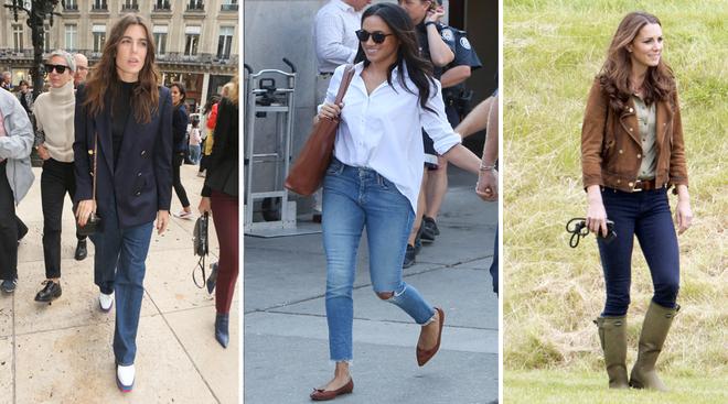 Carlota de Mónaco con jeans y blazer, Meghan Markle con vaqueros...