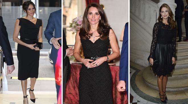 Meghan Markle, Kate Middleton y Magdalena de Suecia con vestidos...